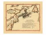 1756, New Brunswick, Newfoundland and Labrador, Nova Scotia, Prince Edward Island, Virginia Giclee Print