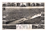 1883, St. Paul 1883 Bird's Eye View, Minnesota, United States Giclee Print