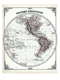 1878, Western Hemisphere Giclee Print