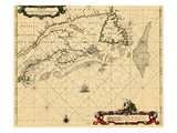 1675, Massachusetts, New Brunswick, Newfoundland and Labrador, Nova Scotia, Prince Edward Island Giclee Print