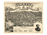 1875, Des Moines Bird's Eye View, Iowa, United States Giclee Print
