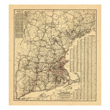 1905, New England, Connecticut, Maine, Massachusetts Giclee Print
