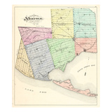 1877, Norfolk County Map, Canada Giclee Print