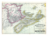 1879, Maritime Provinces Giclee Print