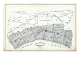 1879, Elgin County Map, Canada Giclee Print