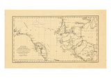 1790, A CHART/of the Interior Part of/NORTH AMERICA Giclee Print