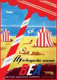 Fly to Europe - British European Airways Affiches