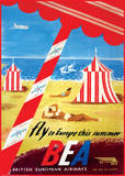 Fly to Europe - British European Airways Print