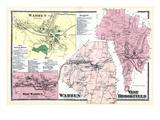 1870, Warren, Warren Town, Warren West, West Brookfield, Massachusetts, United States Giclee Print