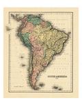 1876, South America Giclee Print