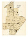 1879, Perth County Map, Canada Giclee Print
