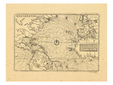 1566, Africa, Europe, North America, South America Giclee Print