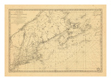 1780, Connecticut, Maine, Massachusetts, New Hampshire, Nova Scotia, Rhode Island, Vermont, Prince Giclee Print