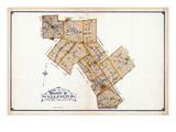 1906, Wellington County Map, Canada Giclee Print