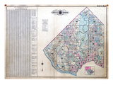 1937, Index Map, District of Columbia, United States Giclee Print