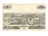 1885, Longwood Bird's Eye View, Florida, United States Giclee Print