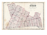 1879, Huron County Map, Canada Giclee Print