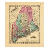 1866, Maine Giclee Print