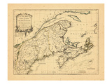 1775, Maine, Massachusetts, New Brunswick, New Hampshire, Newfoundland and Labrador, Nova Scotia Giclee Print