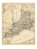 1879, Ontario - Counties, Essex, Kent, Lambton, Huron, Perth, Middlesex, Elgin, Canada, Oxford Giclee Print