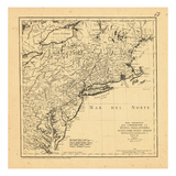 1778, Maine, Maryland, Massachusetts, New Hampshire, New Jersey, New York, Pennsylvania Giclee Print