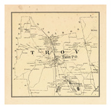 1877, Troy Township, Bowkerville, Rockwood Pond, New Hampshire, United States Giclee Print