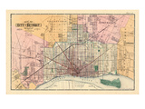 1883, Detroit City, Michigan, United States Giclee Print