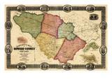 1860, Howard County Wall Map, Maryland, United States Giclee Print
