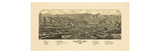 1882, Golden Bird's Eye View, Colorado, United States Giclee Print