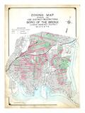 Bronx Zoning Map Giclee Print