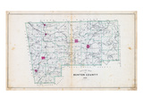 1903, Benton County Outline Map, Arkansas, United States Giclee Print