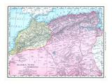 1913, Algeria, Morocco, Africa, Algeria, Tunis and Morocco Giclee Print