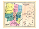 1869, Hartford West, Hartford West Village, West Hartford, West Hartford Village, Connecticut Giclee Print