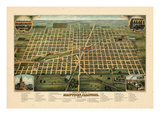 1884, Mattoon Bird's Eye View, Illinois, United States Giclee Print