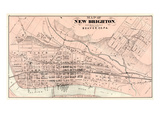 1876, New Brighton, Pennsylvania, United States Giclee Print