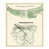 1876, Maysville - Outline Plan, Upper Maysville, Kentucky, United States Giclee Print