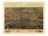 1868, Marion Bird's Eye View, Iowa, United States Giclee Print