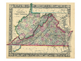 1864, United States, Virginia, West Virginia, North America, Virginia, West Virginia Giclee Print
