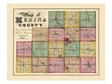 1874, Index Map - Medina County, Ohio, United States Giclee Print