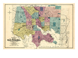 1877, Baltimore City Map 1877, Maryland, United States Giclee Print