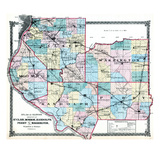 1875, St. Clair, Monroe, Randolph, Perry and Washington Counties Map, United States Giclee Print