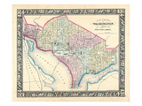 1864, District of Columbia, Washington D.C Giclee Print