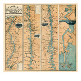 1863, Mississippi Valley Panarama and Fortifications Map, Mississippi, United States Giclee Print