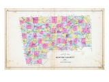 1903, Benton County Outline Map - School Districts, Arkansas, United States Giclee Print