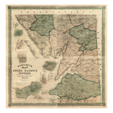 1858, Cecil County Wall Map, Maryland, United States Giclee Print