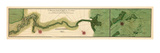 1732, Mississipi River Chart New Orleans to the Gulf, Mississippi, United States Giclee Print