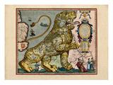 1617, Europe, Leo Belgicus Giclee Print