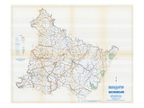 1958, Westmoreland County Map, Pennsylvania, United States Giclee Print