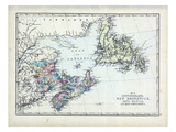 1873, Newfoundland, New Brunswick, Nova Scotia, Cape Breton, Prince Edward Island Giclee Print