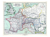 1898, 500 BC, United Kingdom, France, Italy, Europe, Gallia, Britannia, Germania Giclee Print